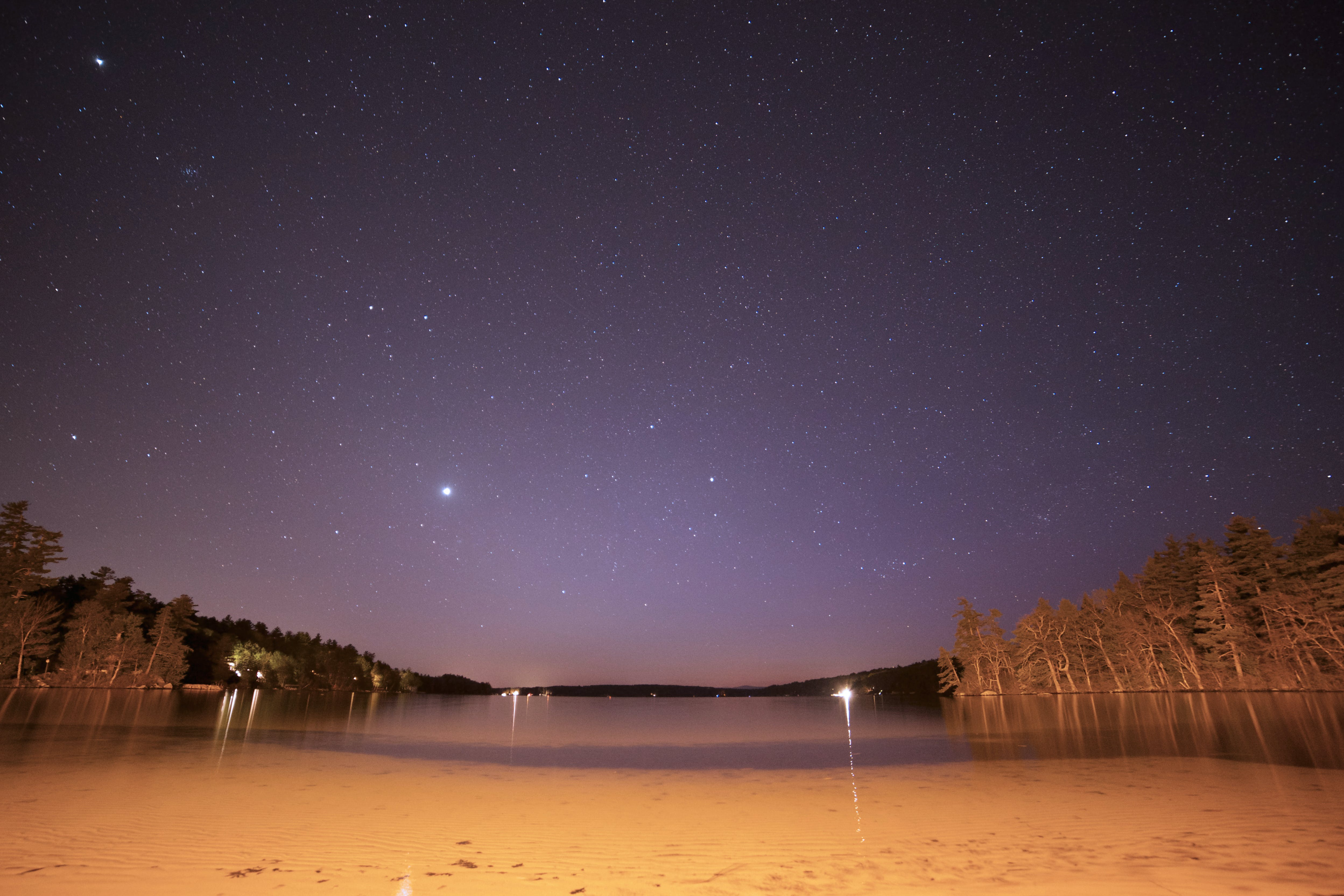 Free stock photo of sky, beach, night, lake