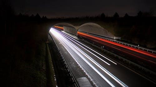 Free stock photo of asphalt, blur, cars, dark