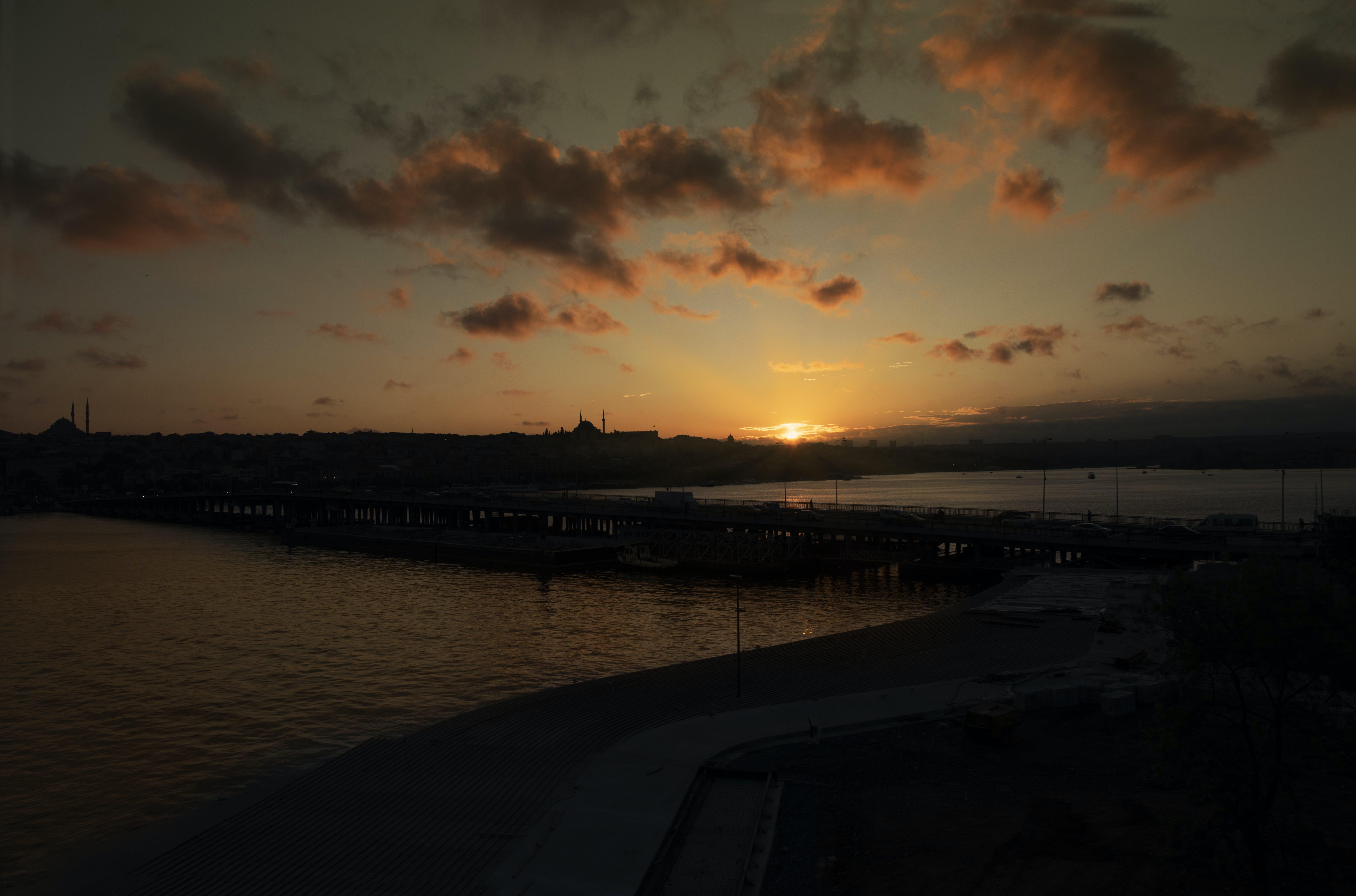 Free stock photo of Golden-Horn Sunset