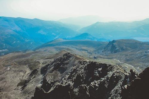 Бесплатное стоковое фото с вид сверху, Высота, горный пик, горы