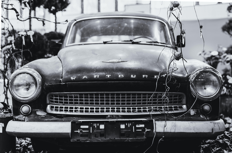 Foto d'estoc gratuïta de automòbil, automoció, blanc i negre, clàssic