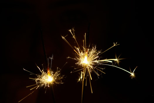 Close-up Photography of Sparklers