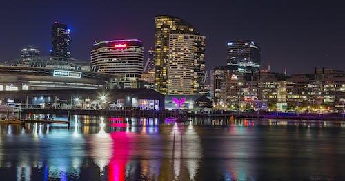 Ingyenes stockfotó belváros, éjszaka, éjszakai fények, építészet témában