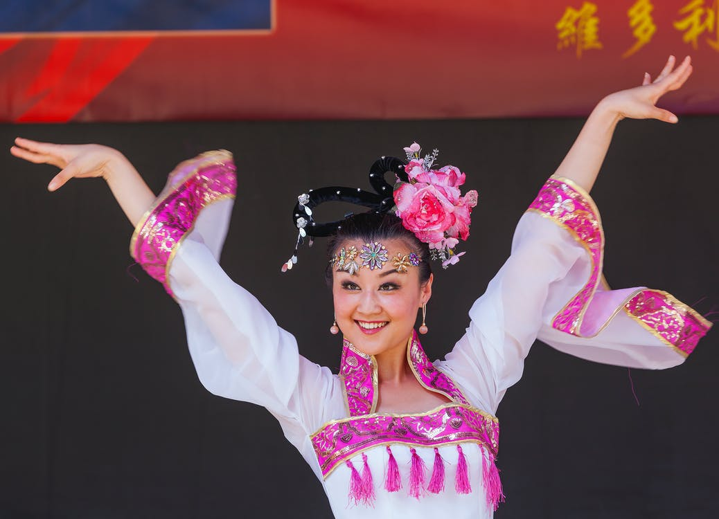 Free stock photo of chinese, costume, dancer