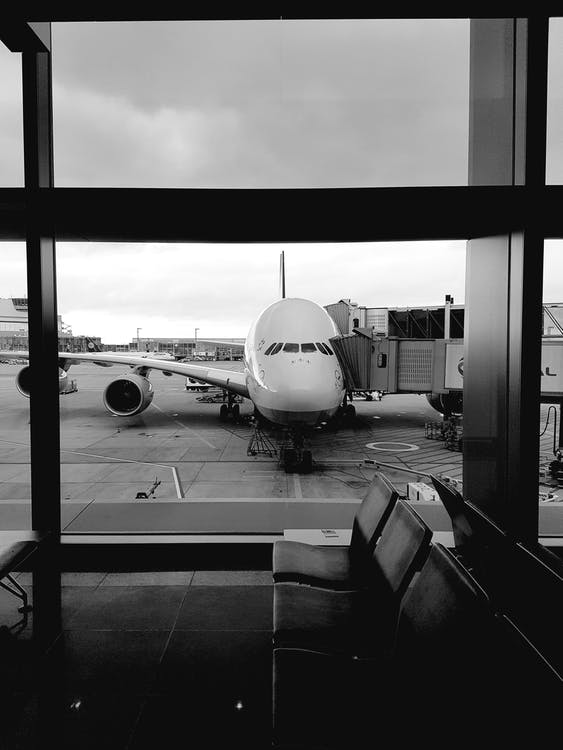 airline, airplane, airport