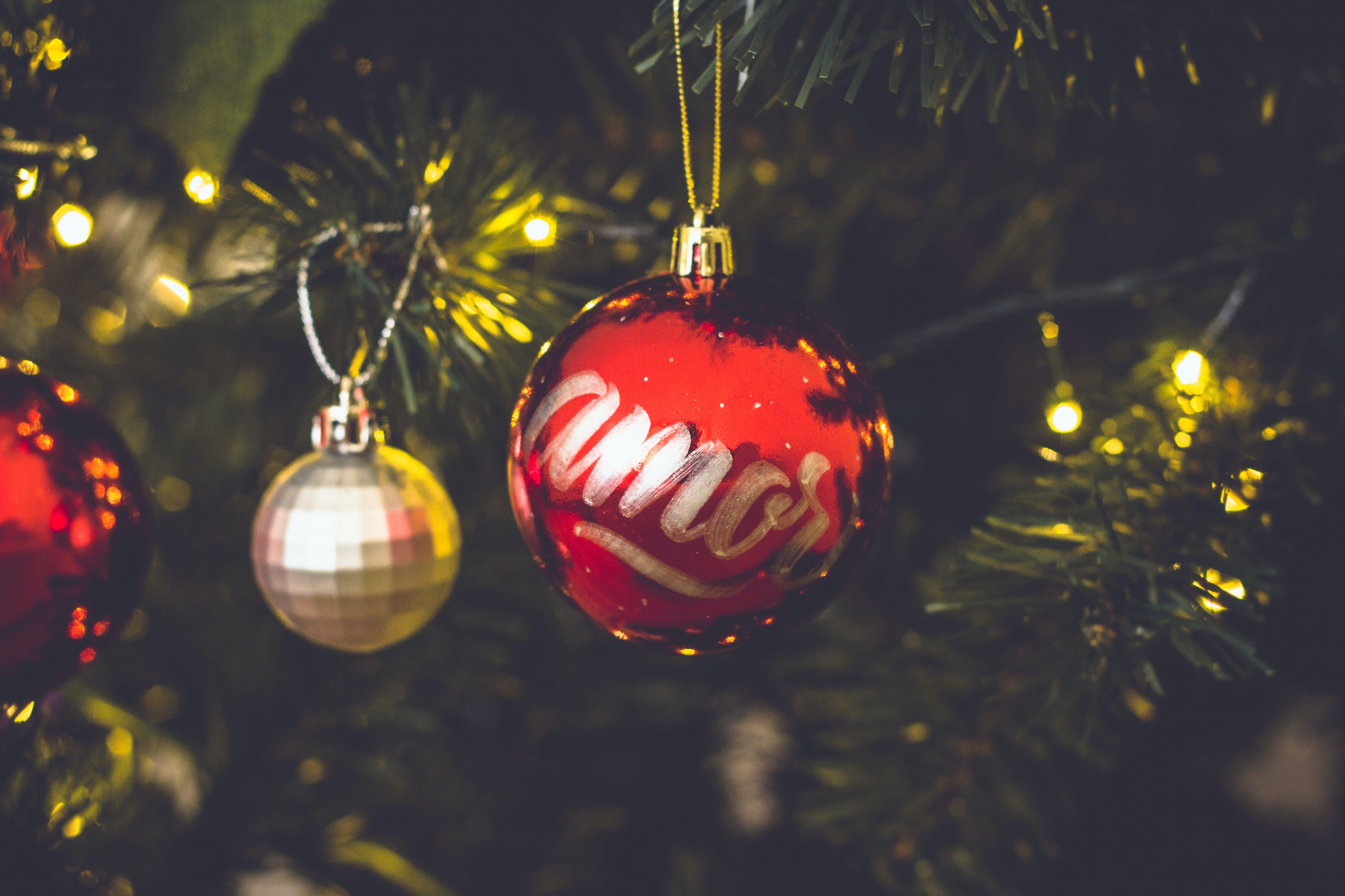 Free stock photo of amor, bokeh, christmas, christmas ball