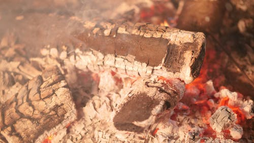 Close-up Photo of A Burning Charcoal
