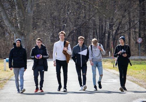 Free stock photo of boys, boys walking, group of boys