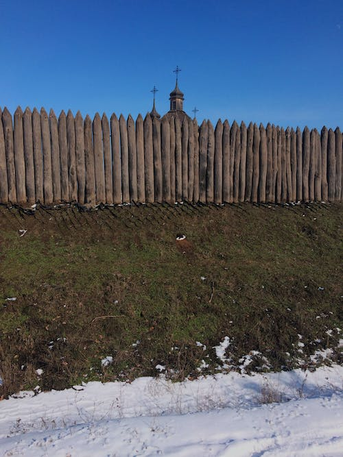 Free stock photo of wood church, wood fence