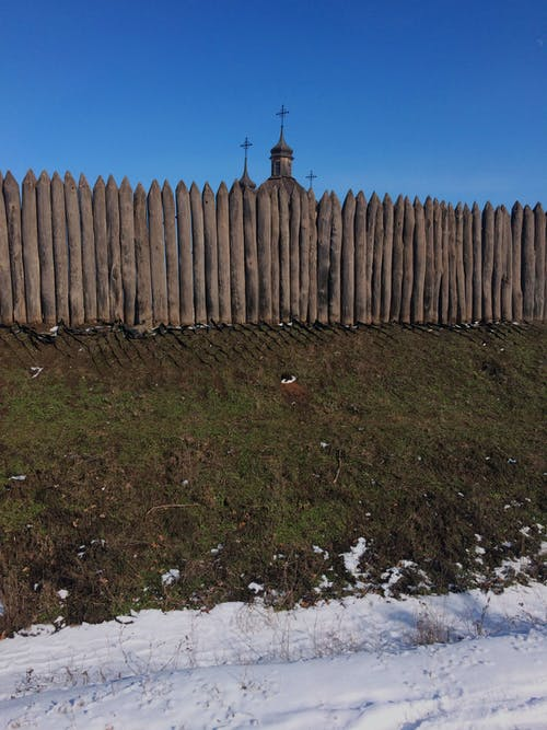 Free stock photo of wood church, wood fence