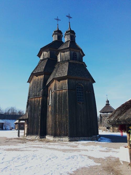 Free stock photo of wood church