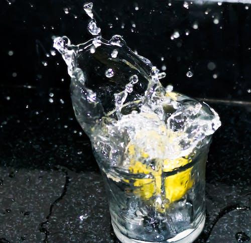 Free stock photo of lemon, motion, motion control, slow motion