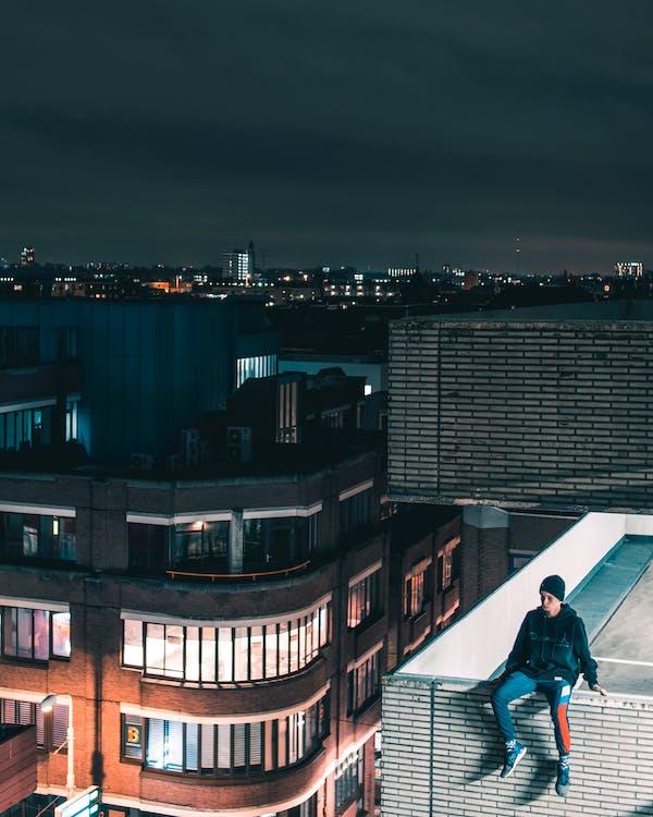 abend, architektur, gebäude