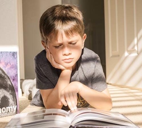 Foto stok gratis anak, anak laki-laki kaukasia, berbohong