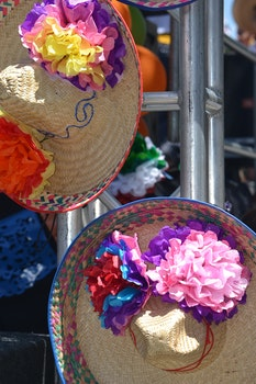 Free stock photo of night, colorful, sombrero