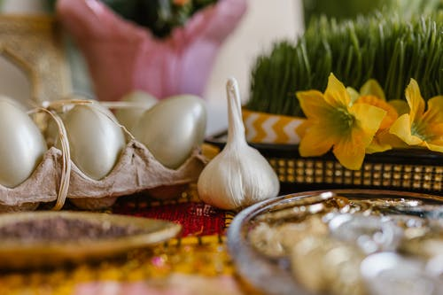 Traditional Symbolic Items On Table