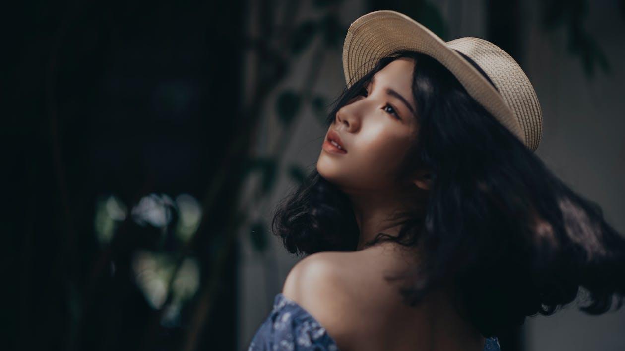 ansigtsudtryk, asiatisk kvinde, fotosession