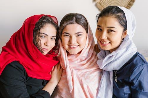 Three Women in Hijab Posing For Photo