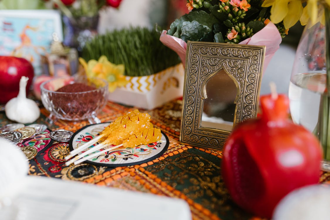 Traditional Food on Table