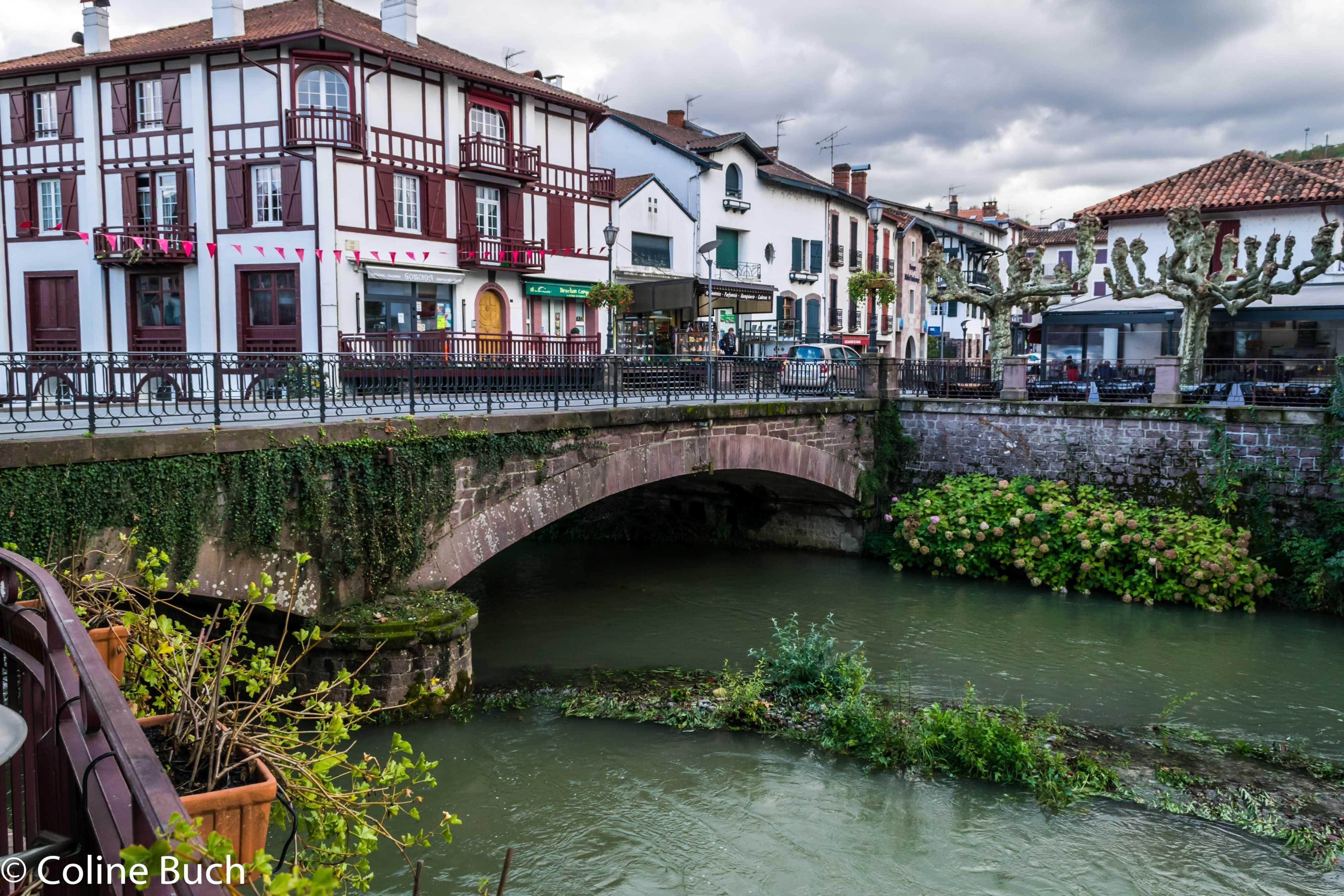 Free stock photo of centre, La Nive, Pays Basque, rivière