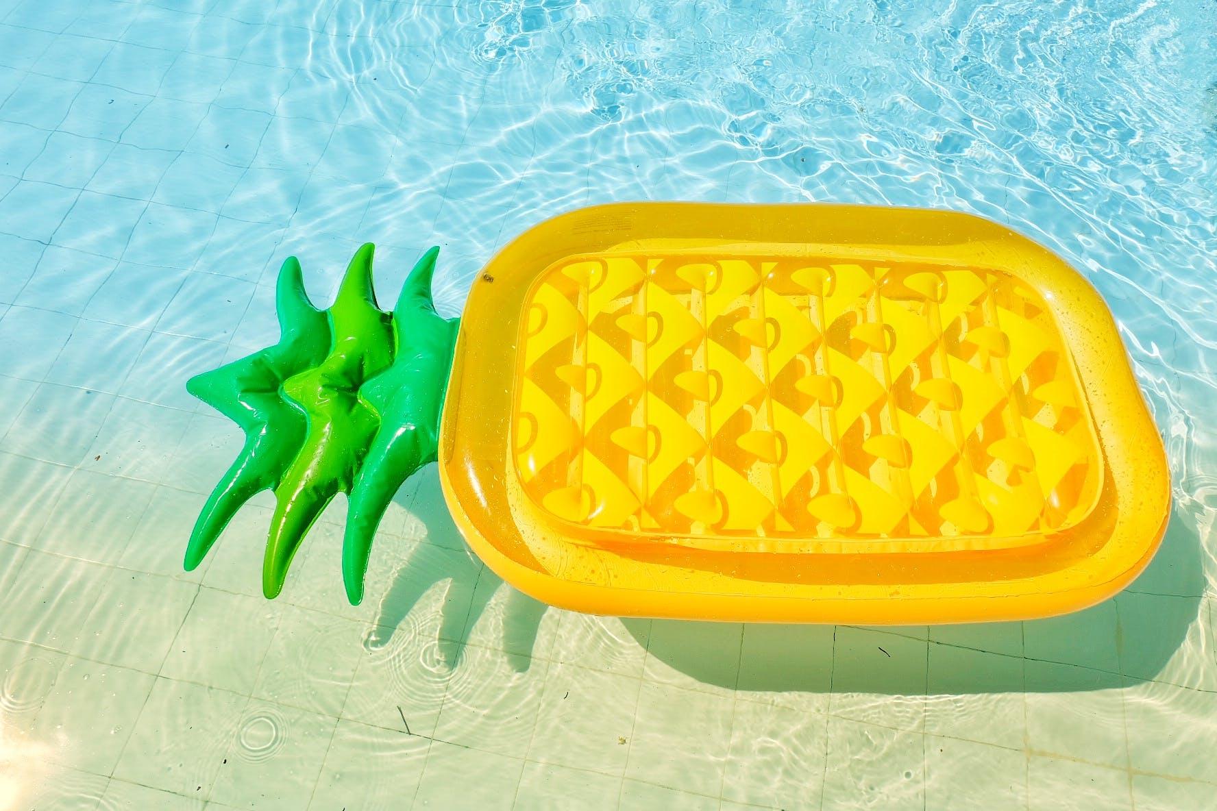 Free stock photo of beach, floater, pineapple, swim
