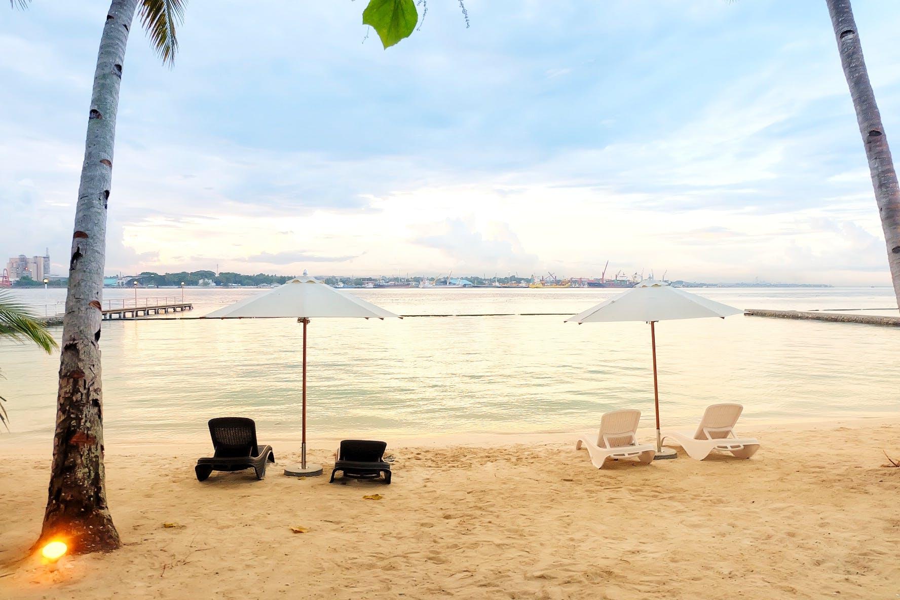 Free stock photo of beach, beach chair, sunset