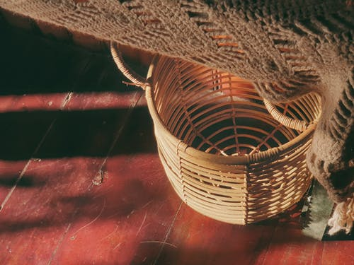 Free stock photo of basket, floor, light