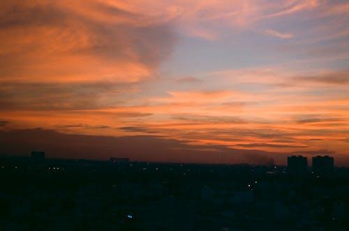 Free stock photo of 35mm film, city, cloud
