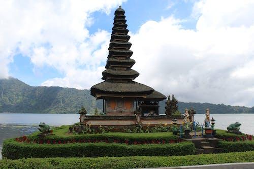 A Close-up Shot of Ulun Danu Beratan Temple on a Sunny Day