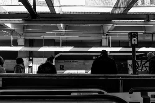 People waiting for train on subway station