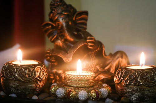 Free stock photo of bhagwan, candle stands, candlelight, Candlelights