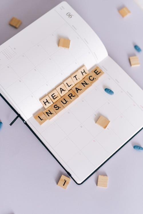 건강 보험, 공책, 보험의 무료 스톡 사진