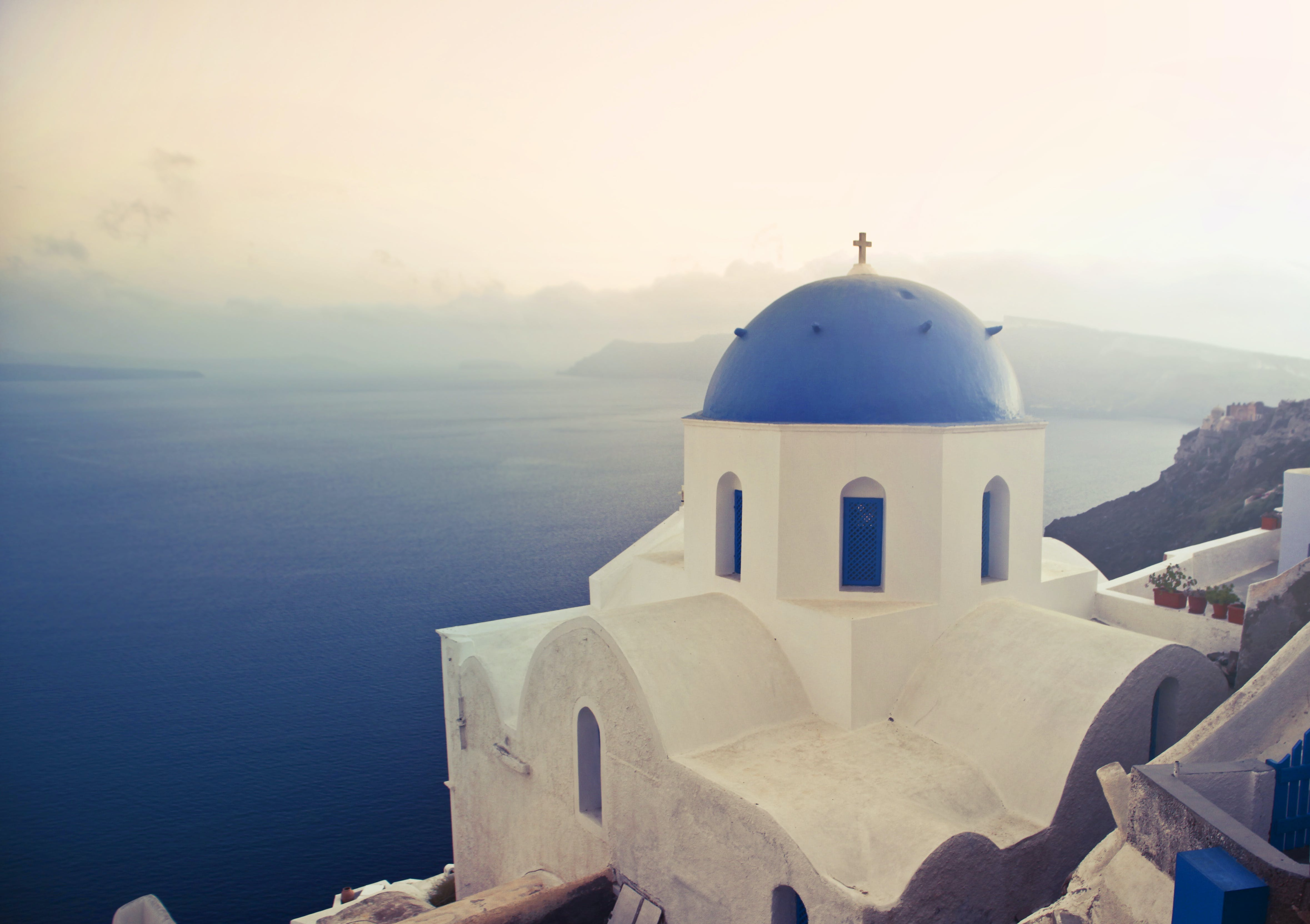 Free stock photo of blue, church, europe, greece