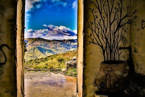 bulutlar, cielo blu, colori, duvar yazısı içeren Ücretsiz stok fotoğraf