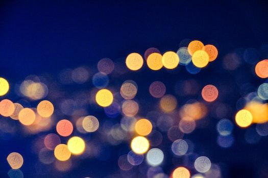 Free stock photo of lights, night, dark, pattern