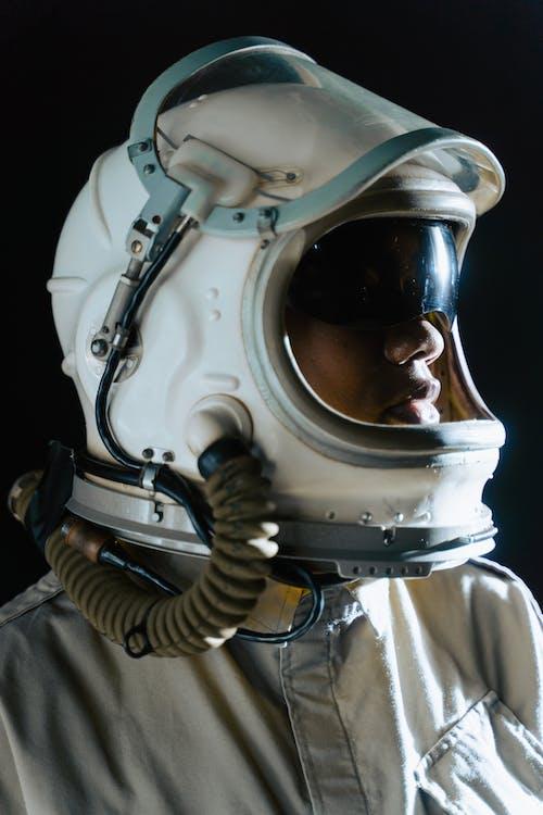 Portrait of an Astronaut Wearing Helmet