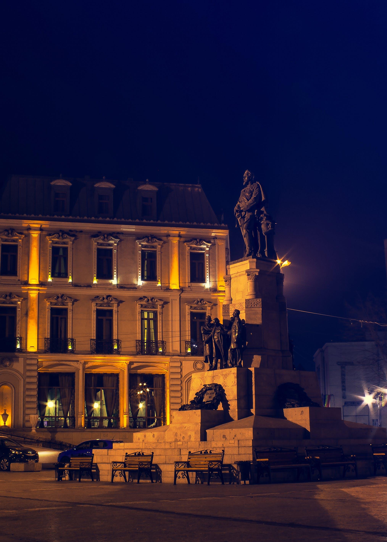 Free stock photo of lights, night, dark, statue