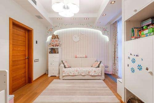 Light spacious children room in apartment