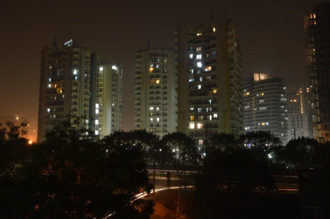 Gratis lagerfoto af nattefotografering