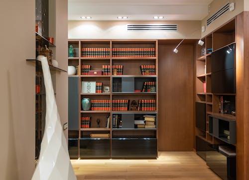 Gratis stockfoto met accommodatie, appartement, bibliotheek