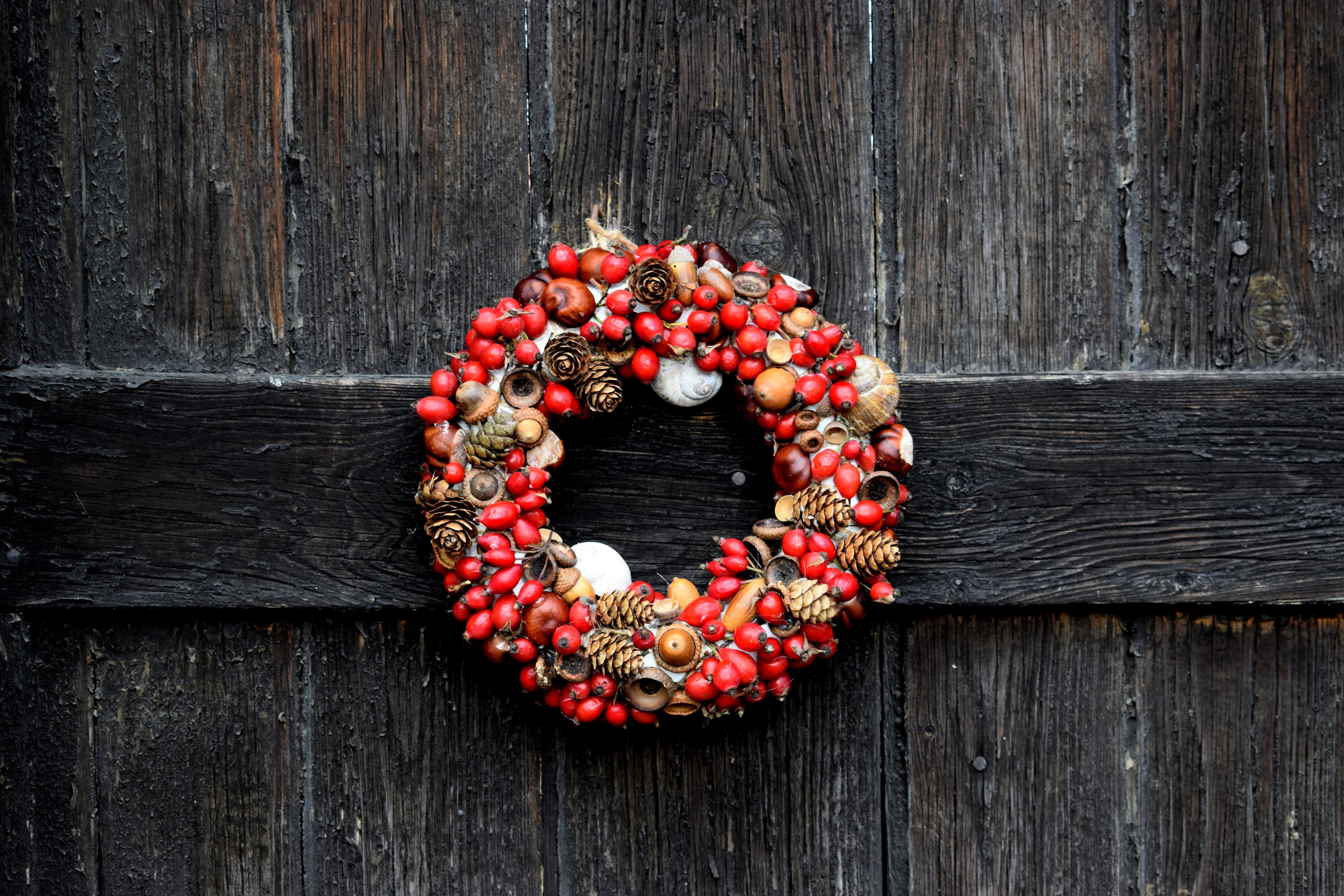 Red and Brown Fruits Wreath