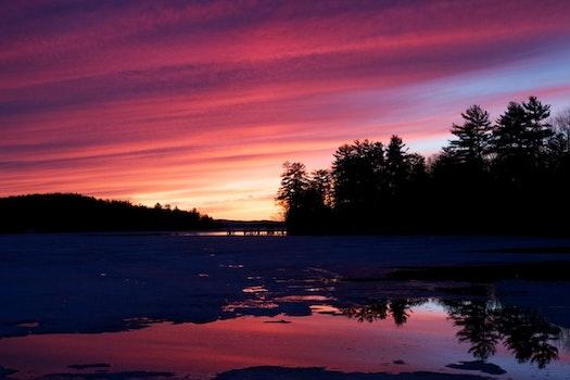 Free stock photo of sunset, sunrise, lake
