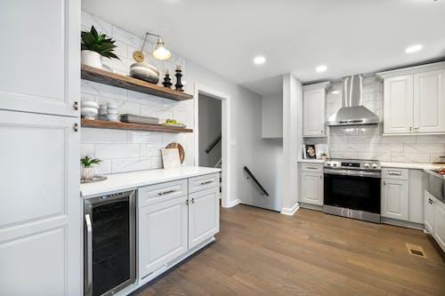 Základová fotografie zdarma na téma doma, domácí interiér, kuchyně