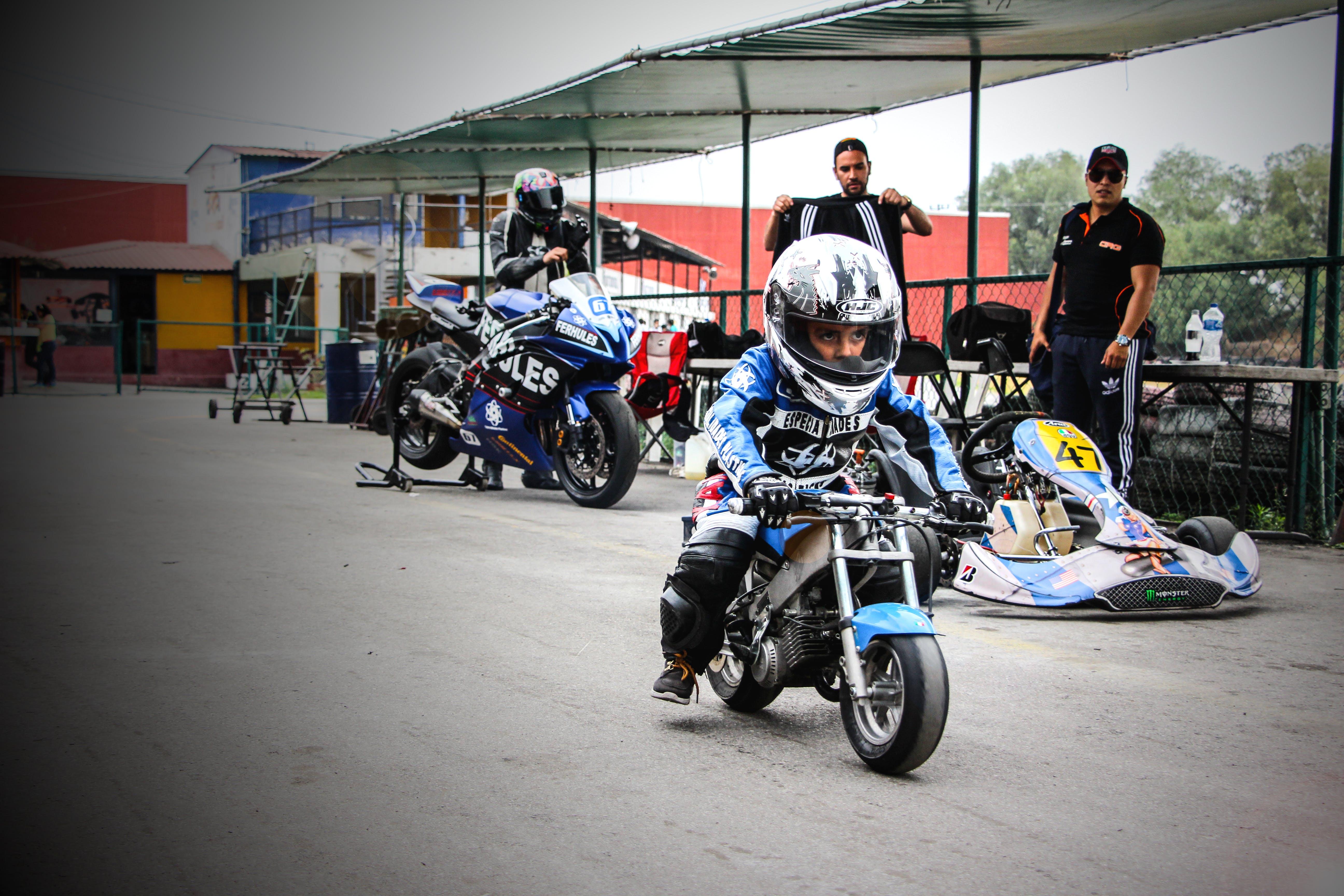 Free stock photo of #motorcycle #kid #racing