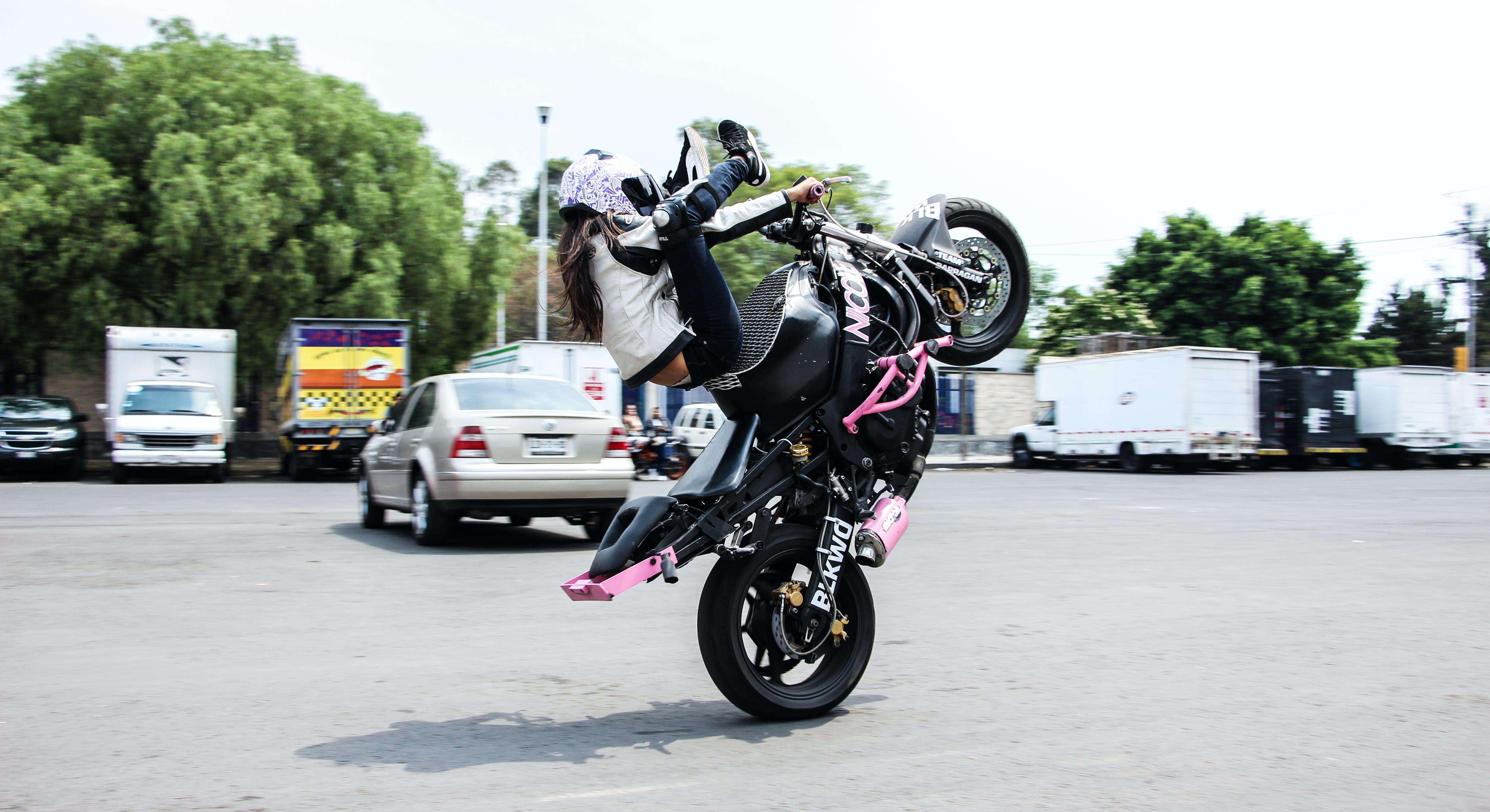 Free stock photo of adrenaline, bike, girl, madeinmexico