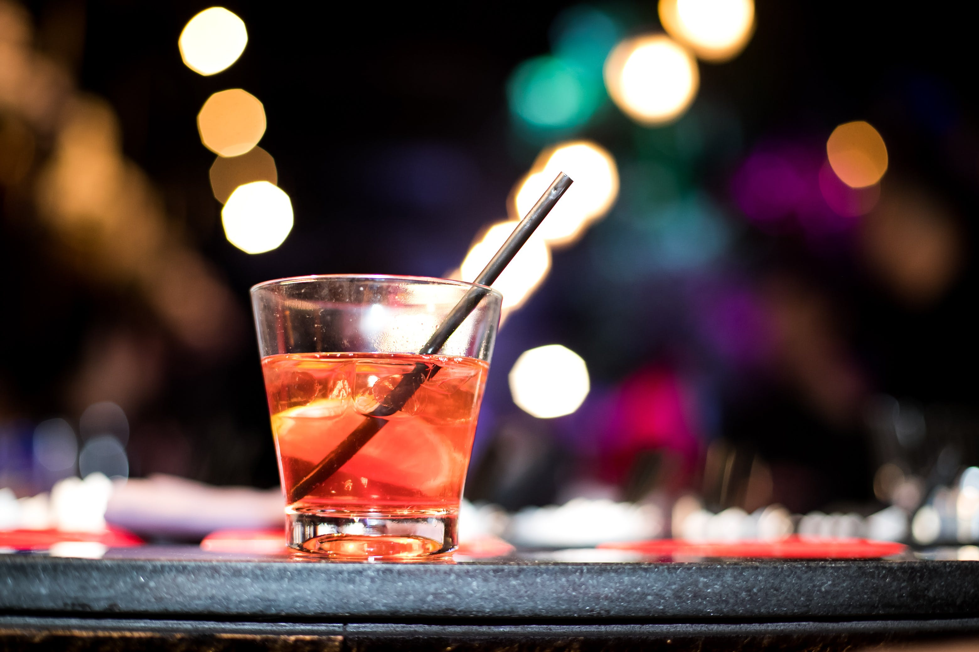 Free stock photo of alcohol, bokeh, midnight, night lights