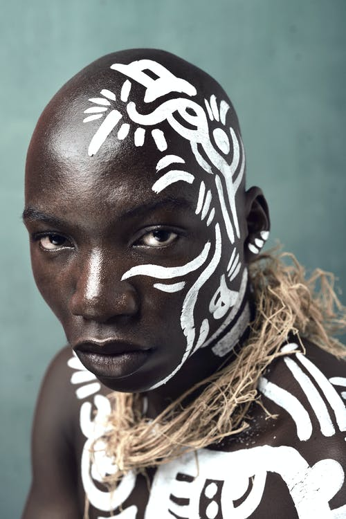 Man With White Body Paint