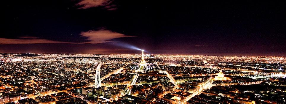 Free stock photo of light, eiffel tower, night, paris