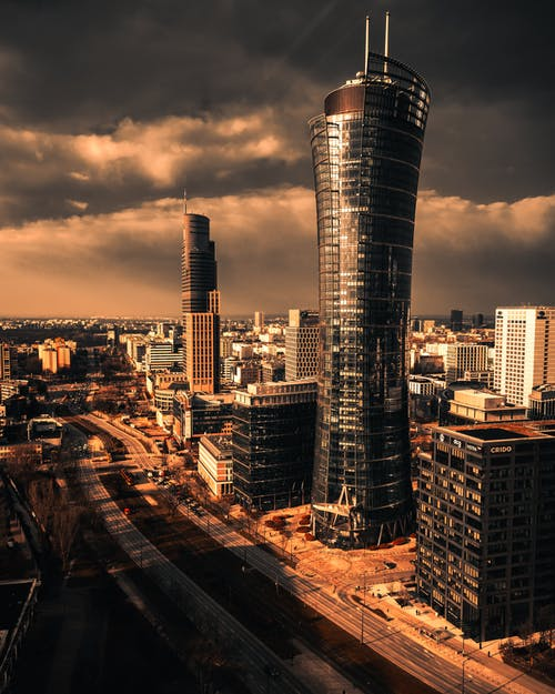 City Skyline during Sunset