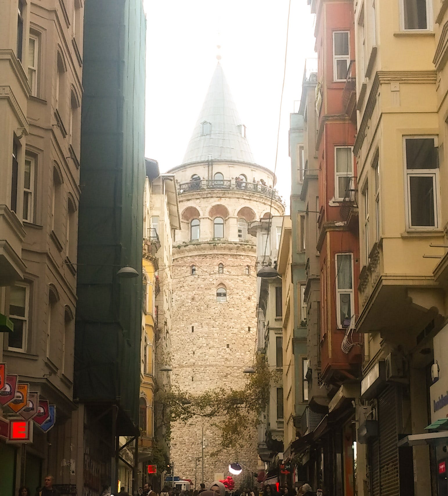 Free stock photo of city, clear sky, colors of autumn, galata tower